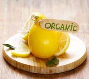 Natural organic yellow lemon Royalty Free Stock Images