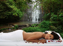 Natural outdoor spa Stock Photo