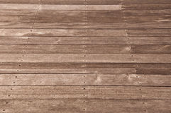 Natural outdoor wooden floor Royalty Free Stock Images