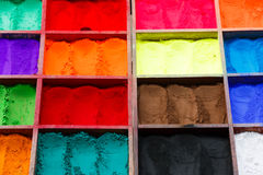 Natural paint powders Royalty Free Stock Photography