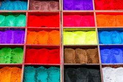 Natural paint powders Royalty Free Stock Images