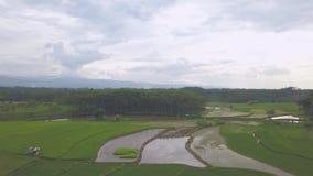 Panorama view of Pekalongan City. Natural Panorama view of Pekalongan City central java Indonesia taken from drone stock footage