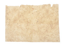 Natural paper folded in four Stock Images