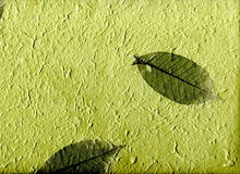 Natural Paper With Leaves, (hight Resolution) Stock Photo