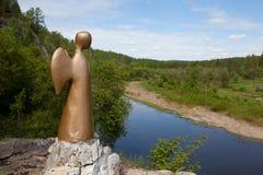 Natural park Deer Streams - the Angel of Hope United Stock Image