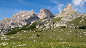 Natural Park of Dolomiti di Sesto Stock Images