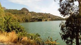 Natural park of El Chorro--panoramic view-Andalusia Stock Photo