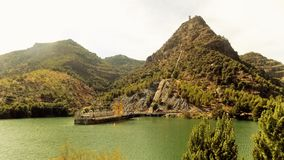 Natural park of El Chorro--panoramic view-Andalusia Royalty Free Stock Photography