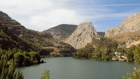 Natural park of El Chorro--panoramic view-Andalusia stock image