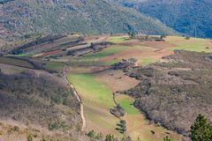 Natural Park of Montesinho. The Natural Park of Montesinho PNM is located in the Northeast of Tras-os-Montes Portugal. It has a dimension of about 75 thousand royalty free stock image