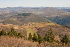 Natural Park of Montesinho. The Natural Park of Montesinho PNM is located in the Northeast of Tras-os-Montes Portugal. It has a dimension of about 75 thousand royalty free stock images