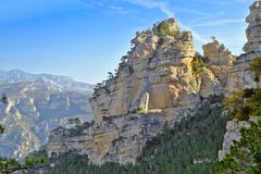 Natural park north of the Valencian community. Mountain landscape in the natural park of `La tinenca de Benifassa` north of the Valencian community Stock Image