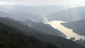 Natural park of Penada Geres, Portugal stock footage