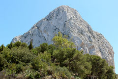 Natural Park of Penon de Ifach situated in Calp, Spain. Royalty Free Stock Photos