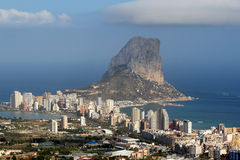 Natural Park of Penon de Ifach situated in Calp, Spain. Stock Images