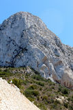 Natural Park of Penon de Ifach situated in Calp, Spain. Royalty Free Stock Photo