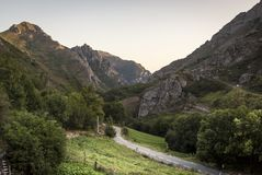 Natural Park of Somiedo. Asturias, Spain. Natural Park of Somiedo in the mountains of Asturias, Spain royalty free stock photos