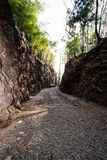 Natural path at the Hellfire Pass Trail, Stock Image