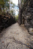 Natural path at the Hellfire Pass Trail, Stock Images
