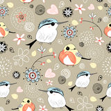 Natural pattern with birds Stock Photography