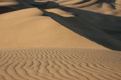 Natural pattern in dunes. Stock Photo