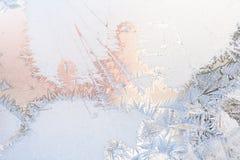 Natural pattern on winter window Stock Photos