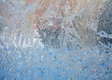 Natural pattern on winter window Stock Photo