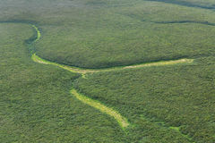 Natural patterns aerial view. South Kamchatka Nature Park. Stock Photography