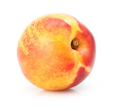 Natural peach fruit isolated on white Royalty Free Stock Photography