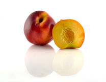Natural peach fruits collection Royalty Free Stock Photos