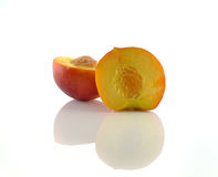 Natural peach fruits collection Stock Image