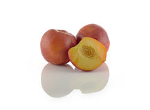 Natural peach fruits collection Royalty Free Stock Photo