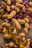 Natural peanut with oil in a glass Stock Photography