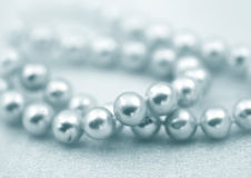 Natural pearl beads royalty free stock photo