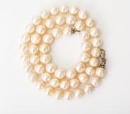 Natural pearl white beads Stock Image