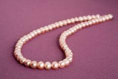 Natural pearls Stock Photo
