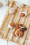 Natural pecan nuts Stock Photo