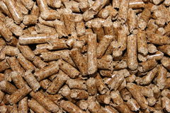 Natural pellet wood Stock Image