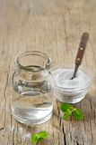 Natural Peppermint And Bicarbonate Mouthwash Royalty Free Stock Photography