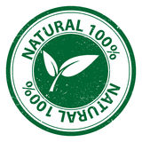 Natural 100 percent. A Natural 100% label illustration for natural and bio products stock illustration