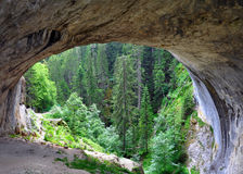 Natural phenomenon of an arch in the mountain Stock Images