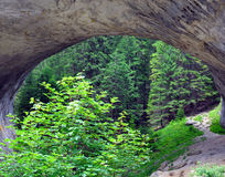 Natural phenomenon of an arch in the mountain Stock Photo