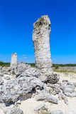 The natural phenomenon Pobiti Kamani, known as The Stone Forest Royalty Free Stock Image