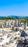 The natural phenomenon Pobiti Kamani, known as The Stone Forest Stock Photos