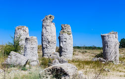 The natural phenomenon Pobiti Kamani, known as The Stone Forest Stock Photo