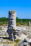 The natural phenomenon Pobiti Kamani, known as The Stone Forest Royalty Free Stock Photos