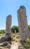 The natural phenomenon Pobiti Kamani, known as The Stone Forest Stock Photos