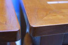 Natural photograph of teak chair. Show the texture of the wood Royalty Free Stock Image
