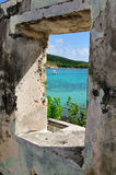 Natural picture frame on St. John Stock Photography