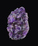 Natural piece of amethyst crystal isolated. Stock Photo
